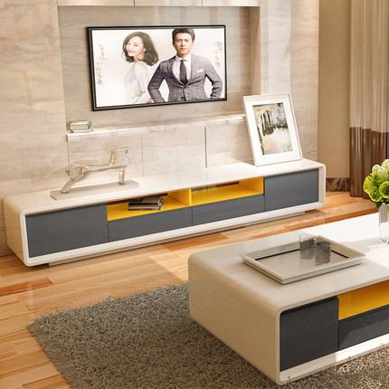北欧电视柜茶几组合套装 小户型创意客厅家具 现代风格简约地柜