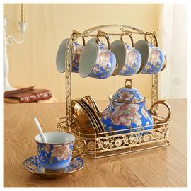 歐式咖啡杯架子桌面懸掛架家用6杯架馬克杯茶具茶杯瀝水架收納架圖片