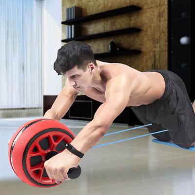 健腹轮男健身器材练腹肌滚轮家用减腹自动回弹专业运动卷腹肌轮女