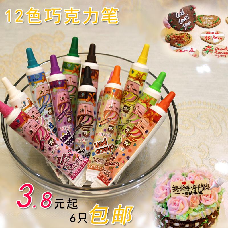 Корейский шоколад карандаш выпекать выпекать инструмент diy граффити карандаш торт крепление цветок карандаш запись карандаш 12 цвет 6 mail