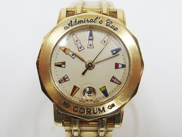 瑞士二手原装手表 昆仑CORUM 18K黄金 海军上将杯 女士石英表91克