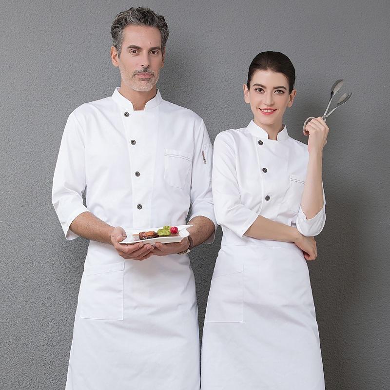 酒店厨师服长袖寿司料理糕点师工作服面包师制服蛋糕服烘焙坊秋冬