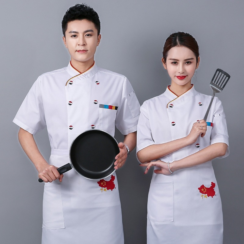 Bakers uniform Bakers uniform summer work clothes sushi biscuit masters clothing