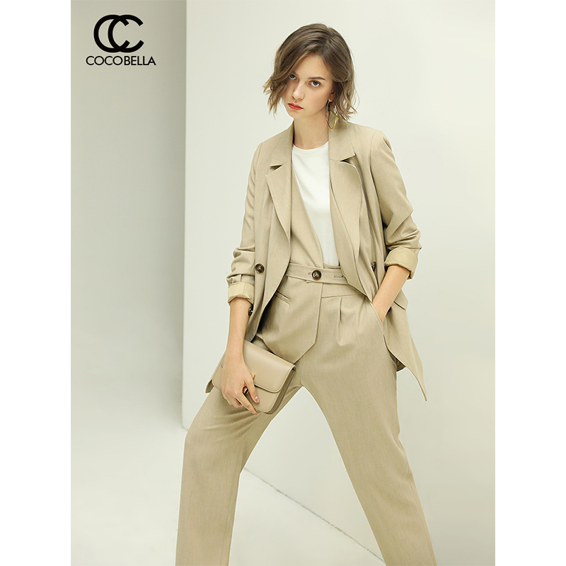 Presale cocobella simple fashion double breasted suit coat women's spring new casual ol suit ct1042