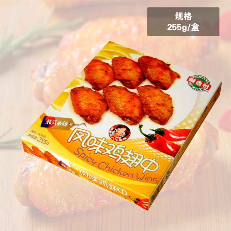 ~天貓超市~潮香村風味雞翅中255g 雞肉