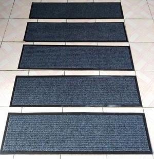 定做加厚双条纹楼梯垫酒店进门室外台阶长条防滑地毯地垫门垫脚垫