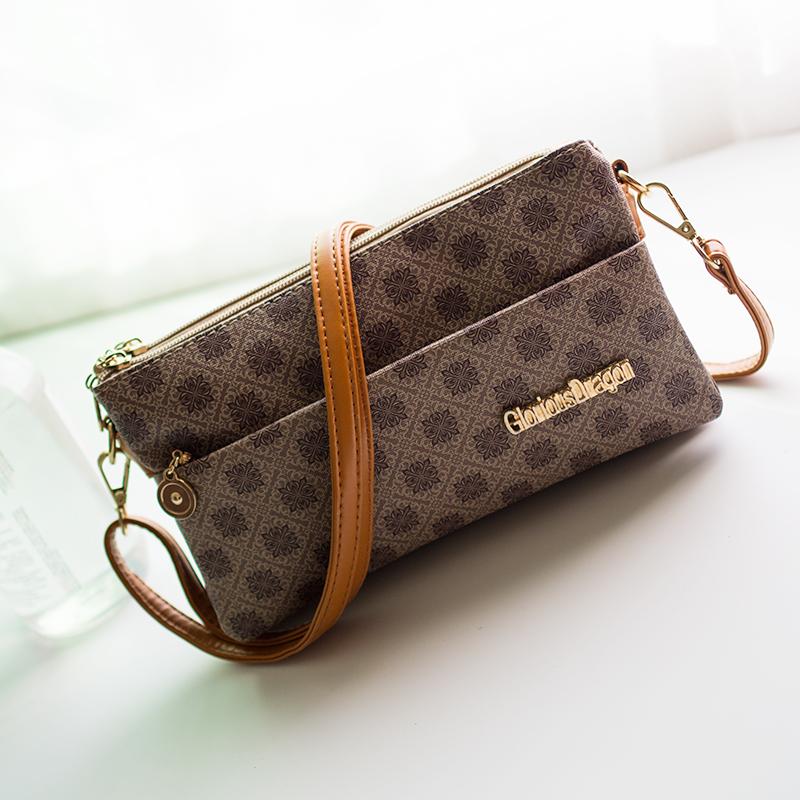 Send mom money bag, Messenger Bag, suitable for middle-aged and elderly people, small change bag, long wallet, simple one shoulder womens bag