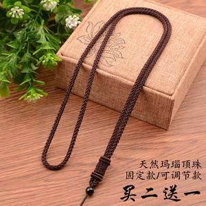 挂件绳手工编织黑红绳子男女平安扣翡翠玉佩黄金项链吊坠挂绳挂坠