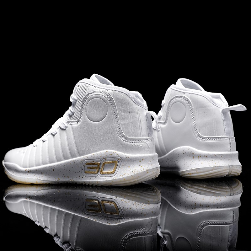 Mens shoes winter plush cotton shoes junior high school students high top large sports basketball shoes AJ running shoes
