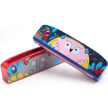Merlot Children harmonica Toy Baby Beginners music playing musical instrument cartoon animal wooden safety gag piano
