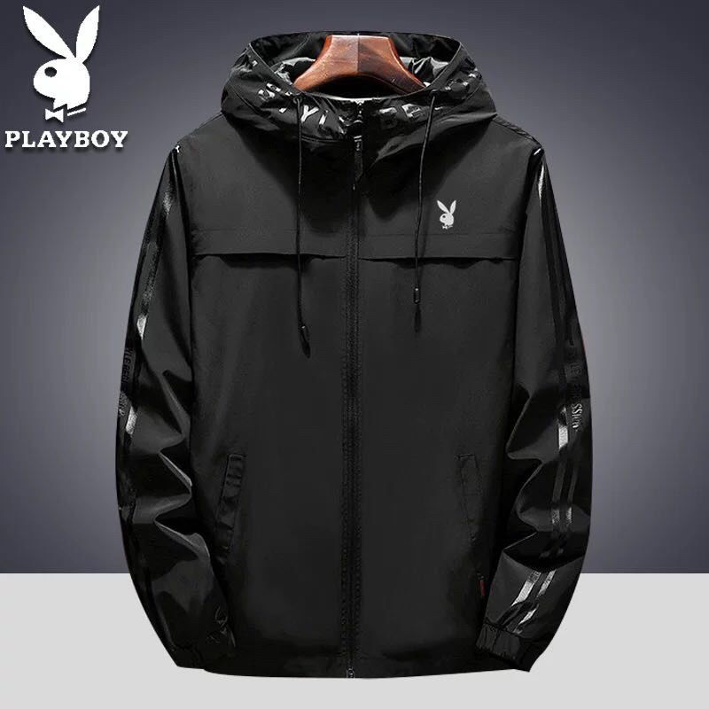 Windbreaker mens 2020 spring and autumn youth jacket sports casual windbreaker hooded handsome trend student coat trend