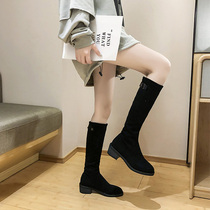 9T407DZ8冬专柜同款牛皮时尚女中靴2018思加图走秀款
