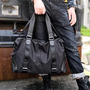 男士手提包大容量旅行包休闲运动健身包简约单肩包男斜挎包行李袋