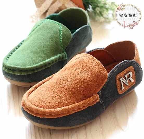 Детская обувь детей обувь мальчиков Корейский волны кожа гороха осенней обуви кожа аутентичные