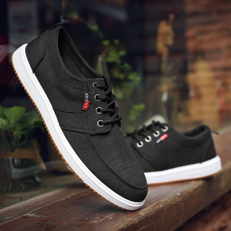 Classic 2021 summer popular mens shoes mens casual breathable canvas shoes Korean fashion mens board shoes