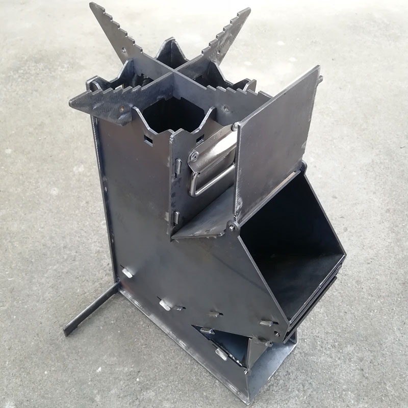 Portable rocket oven outdoor firewood stove outdoor fire stove folding firewood gasifier household firewood stove