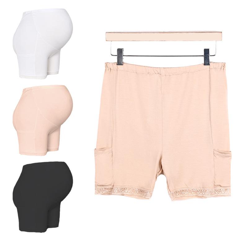 纯色孕妇内裤高腰托腹安全裤春夏薄产妇短裤打底裤宽松怀孕中后期