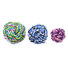 Crazy Puppy Toy Bite Resistant Pet Toy Ball Teddy Molars Bite Rope Ball Cotton Rope Ball Puppy