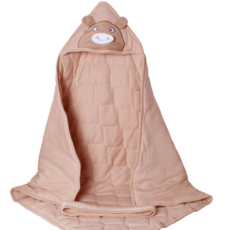 六月娃娃婴儿抱被春秋冬加厚初生宝宝包被新生儿抱毯棉婴童用品