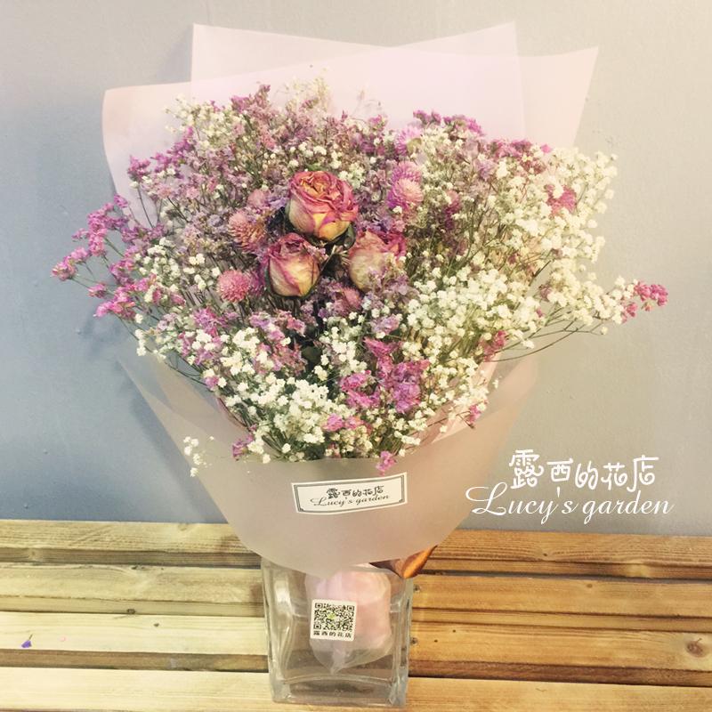 LED свет сухие цветы букет роуз в небе звезда цветы природный высушенный рождество день святого валентина подарок послать друзьям