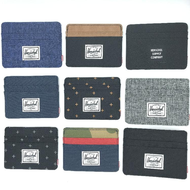 外贸潮牌欧美帆布卡包男女学生超薄零钱包信用卡包时尚迷你卡包