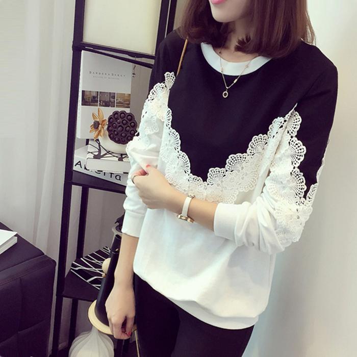 胖MM大码女装秋季新款韩版长袖T恤女上衣宽松百搭学生外穿打底衫