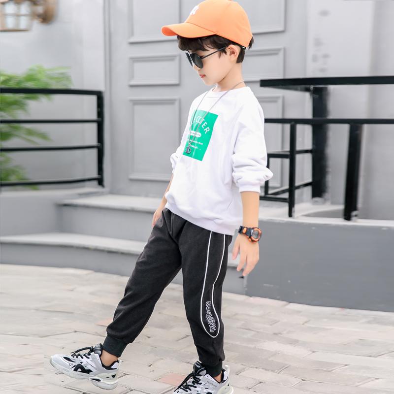 男童工装裤子春秋款休闲裤男女童婴幼儿宽松版运动长裤外穿洋气潮