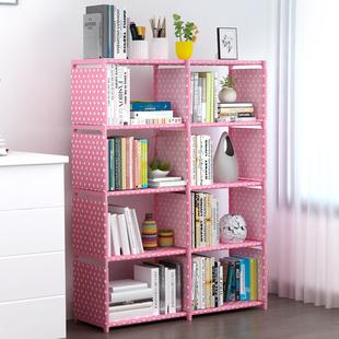 简易书架置物架落地桌上书柜简约现代学生儿童创意组合储物收纳柜