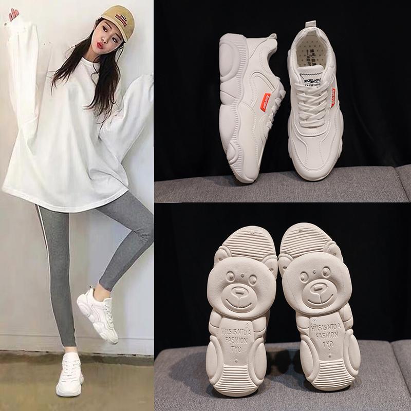 大道行老爹鞋2019春季新款小白鞋女学生休闲运动鞋韩版超火板鞋女