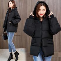 羽绒棉服女短款加肥加大码女装300斤胖mm冬装棉袄韩版宽松厚棉衣