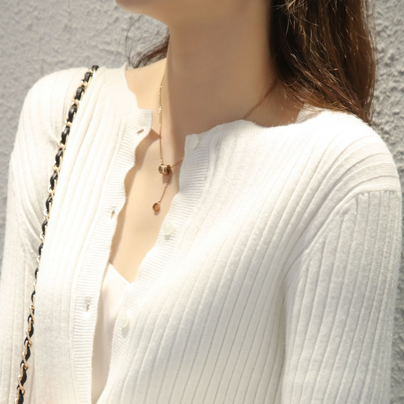 春秋毛衣外套女开衫2020秋冬新款外搭羊毛针织对襟百搭薄款短款潮