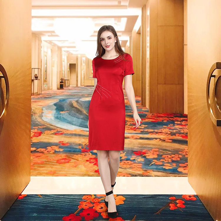 In spring and summer of 2020, the new womens slim dress is fashionable and elegant, and the daily cheongsam skirt is in hot promotion