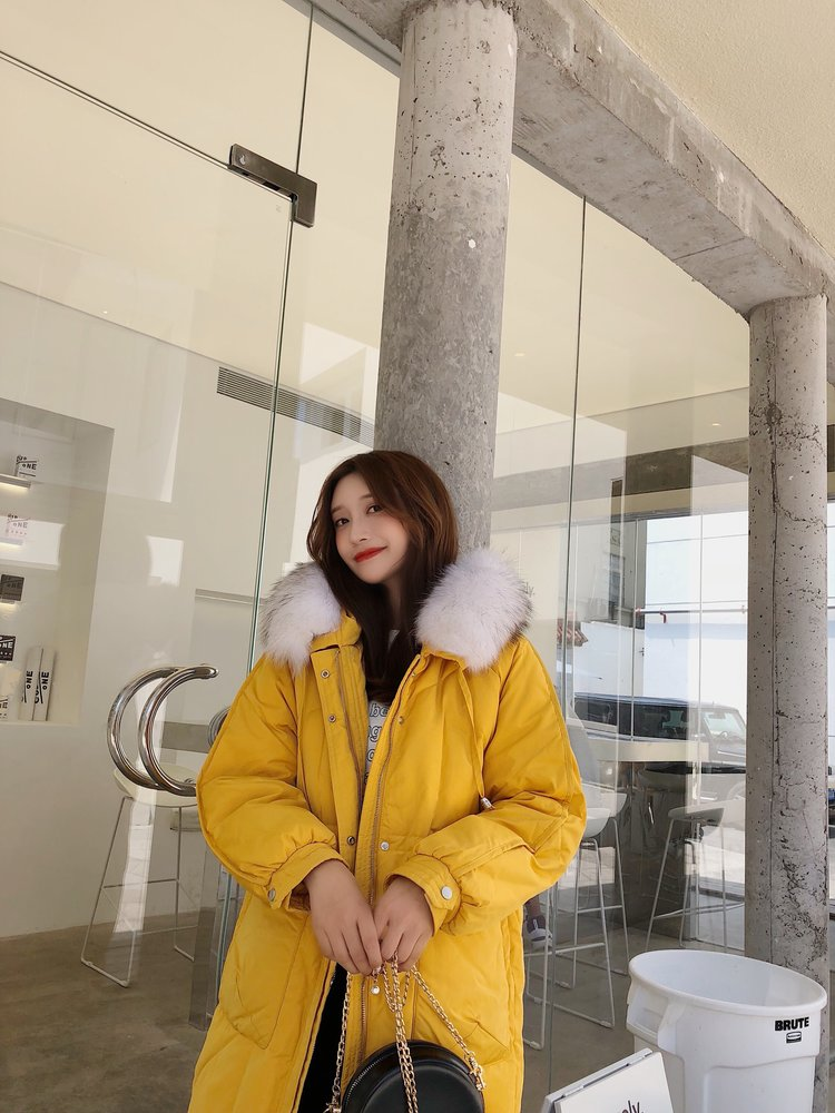 2019冬季新款羽绒服女中长款大毛领加厚韩版显瘦冬精致优雅风范