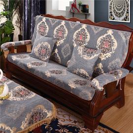 实木红木质沙发垫带靠背连体加厚中式四季防滑定做春秋椅海绵坐垫