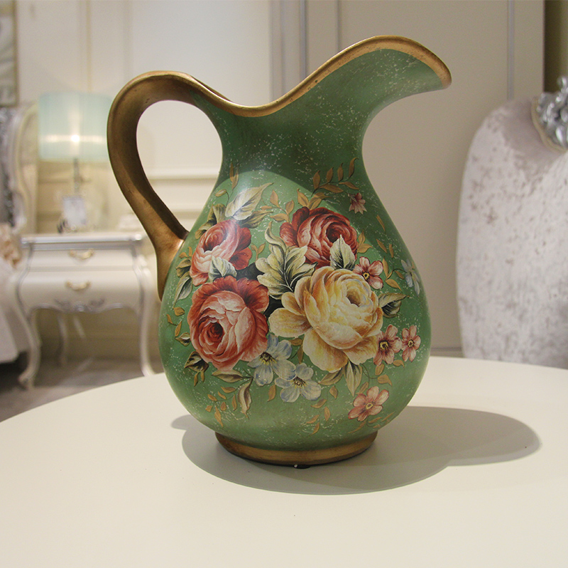 Известные корни европейской сельской цветочные цветочные украшения цветы украшения дома керамические цветок ваза