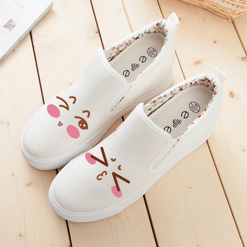 2021春季低帮白色内增高松糕帆布鞋