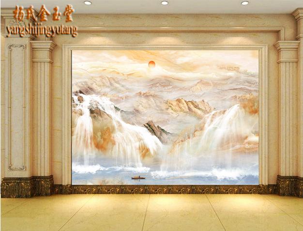 瓷砖大理石背景墙 欧式简约客厅电视墙砖3d微晶石大理石纹