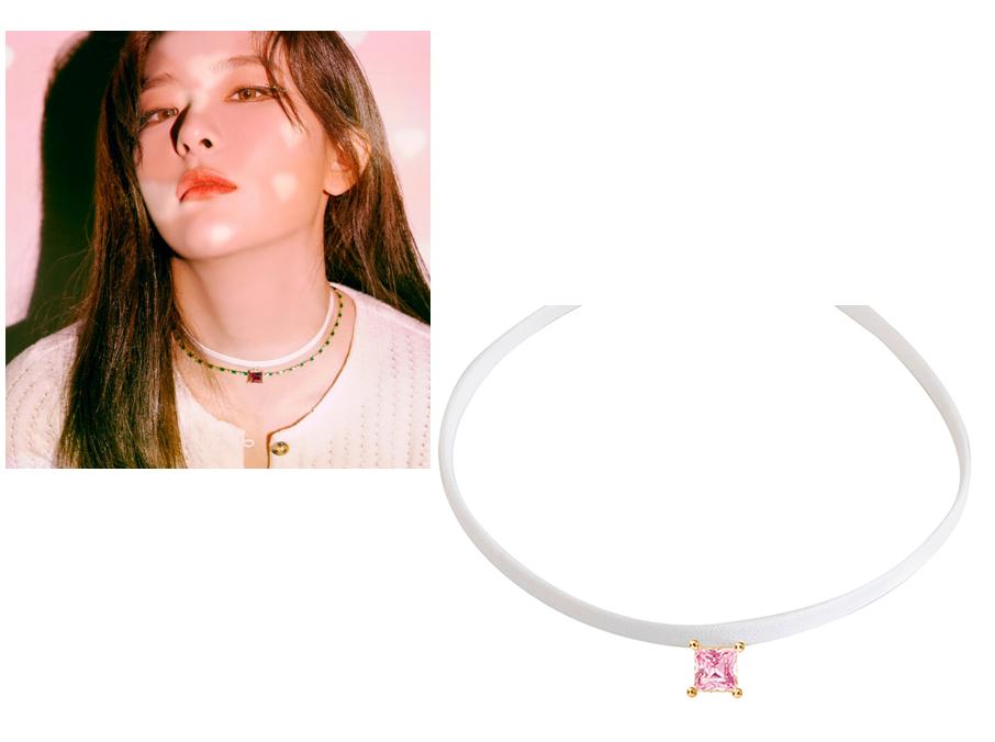 韩国代购正品 Red Velvet 姜涩琪 林秀香同款 镶钻皮革颈链 项链