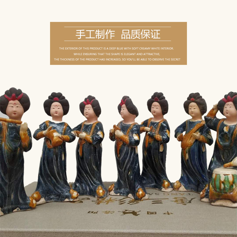 Ceramic ladies, ceramic figurines, maid ornaments, Tang Sancai, fat girl, antique collection, home ornaments, study, porch cabinet gift