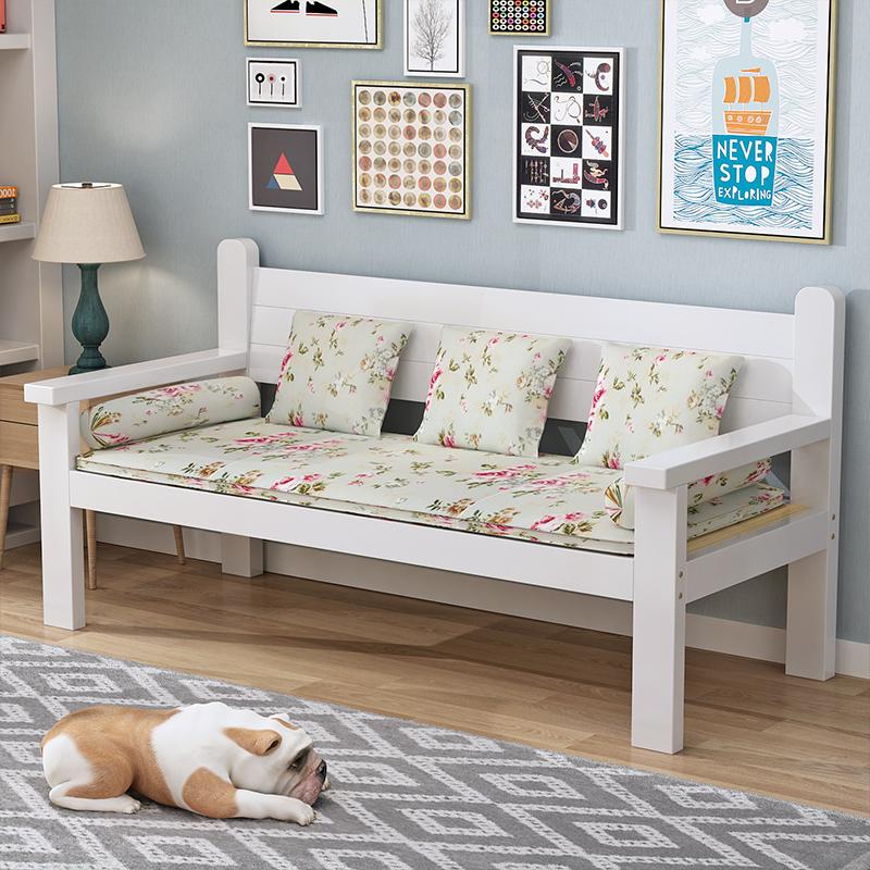 實木沙發椅單雙人椅客廳家用木沙髮長椅陽臺休閑靠背實木椅子原木