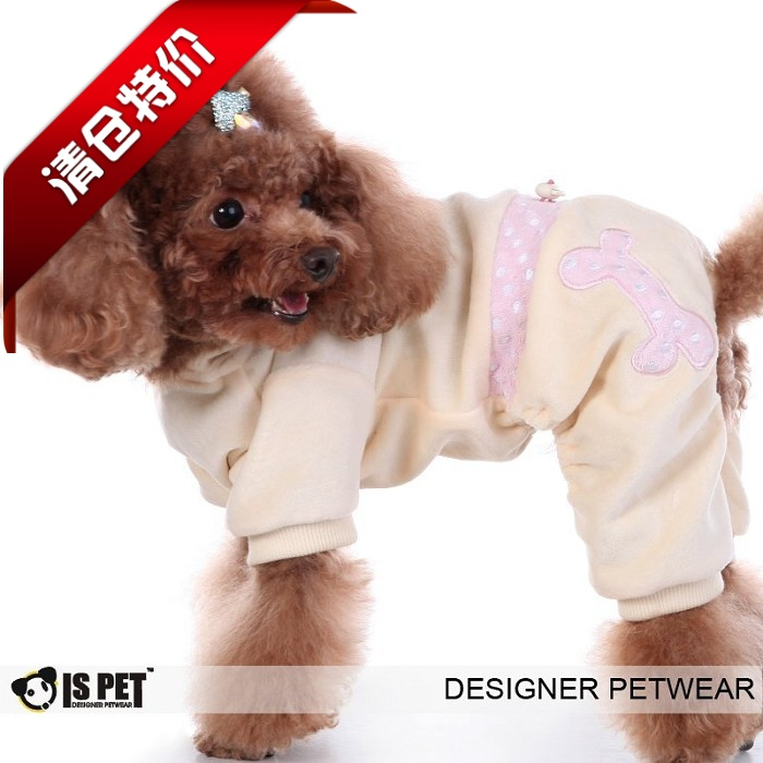 Ispet pet clothing spring and summer fashion velvet rabbit cross dressing one piece four legged suit ss-2110