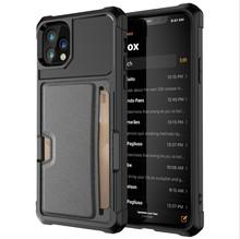 跨境适用iphoneMAX11PRO车载磁吸插卡手机壳 苹果7plus防摔卡套