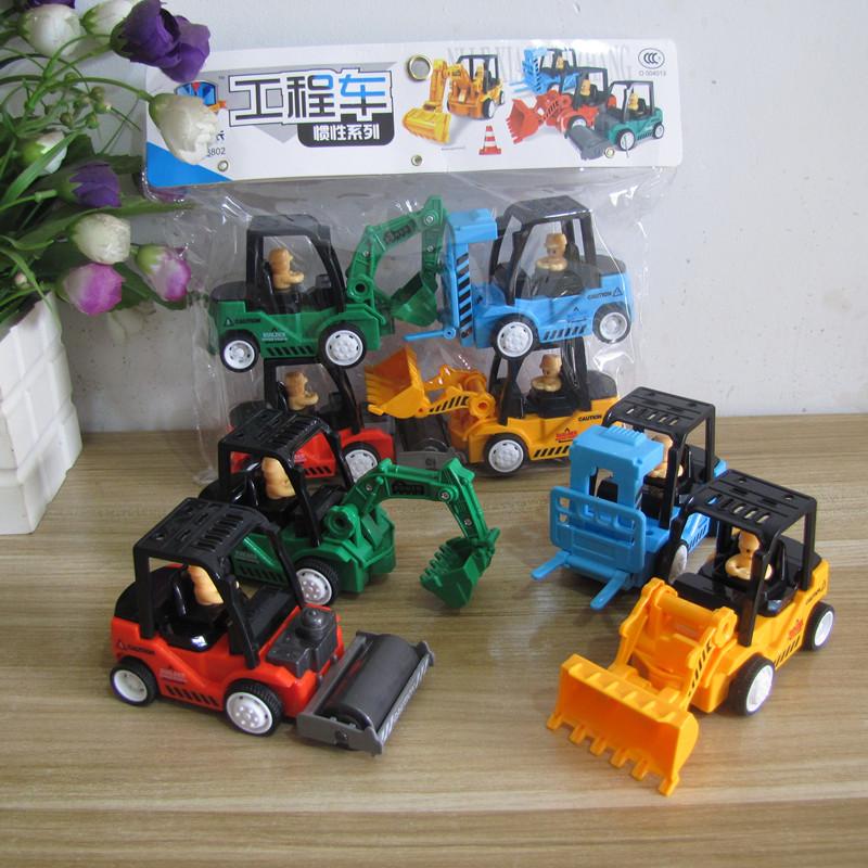 惯性车工程车宝宝小汽车挖掘机挖土机男孩模型套装儿童耐摔玩具车