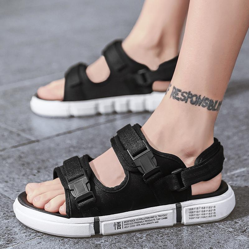Huili sandals mens summer flip flops dual purpose enlightenment Korean fashion versatile casual young mens beach shoes