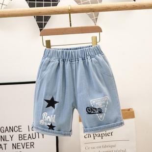 薄款 外穿宝宝中裤 子潮 破洞五分裤 男童牛仔短裤 夏季 儿童装 2021新款