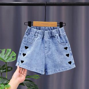女童牛仔短裤夏季洋气儿童夏装女孩外穿宝宝宽松薄款中大童裤子潮