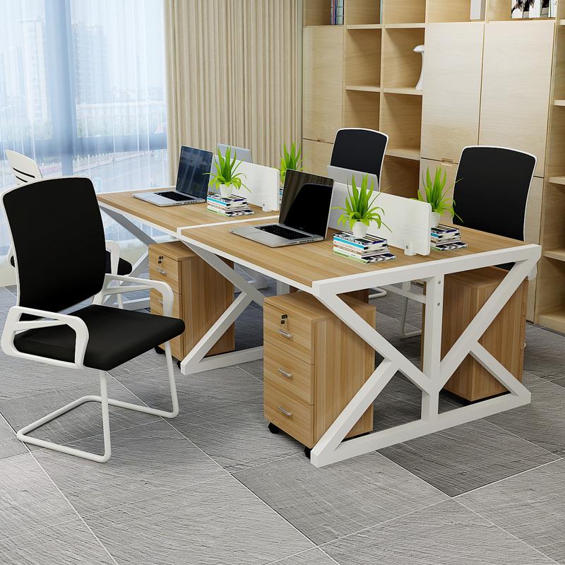 Бесплатная доставка стол стул простой современный сочетание офис член компьютерный стол 2 4 6 человек отрезать экран член работа палуба