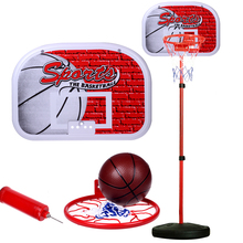 Children's outdoor sports iron basketball shelf can be lifted and lowered shooting frame household indoor boy baby ball toys