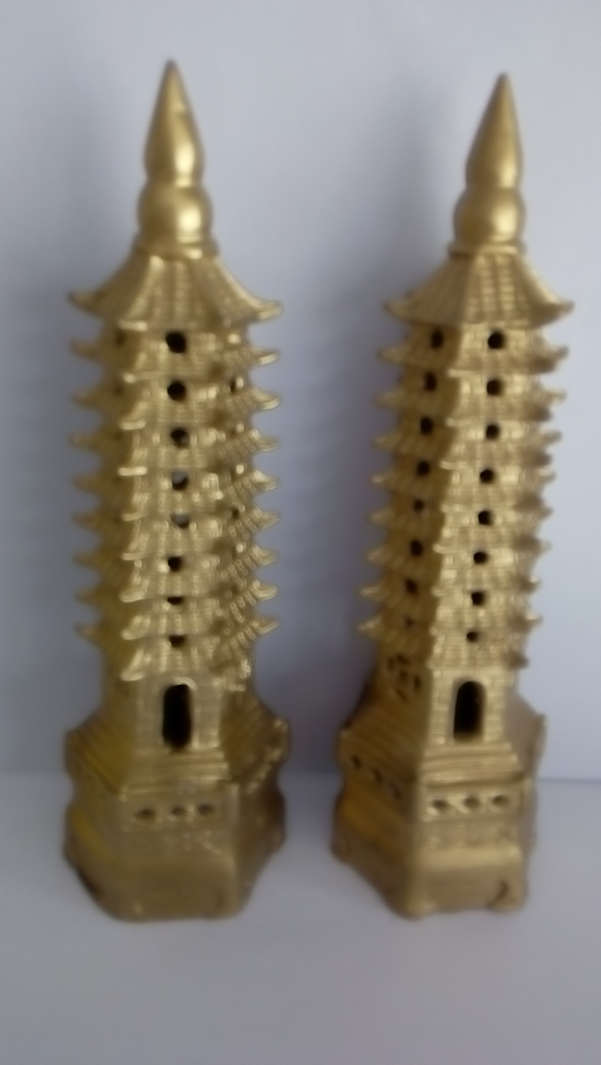 Чистая медь Ванчангская башня Девятнадцать восемнадцать сантиметров Золотой список Название Wenjin Tower Wenchang Tower