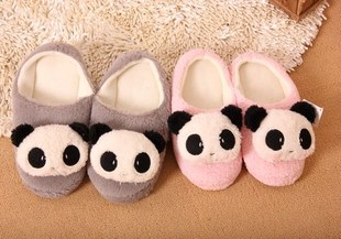Winter home slippers cute panda bunny slippers with slippers couple birthday gifts plush slippers